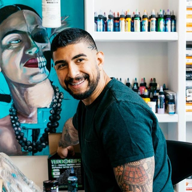 "Steven Avalos, founder of @evilandlove tattoo shop, has some helpful advice for entrepreneurs just starting out. ""Keep working, don't slack and make sure you love it."" . . . . #godaddy #entrepreneur #makeyourownway #iconsofourtribe #businessowner #nyc #newyork #creative #fashion #fashionapp #sketch"